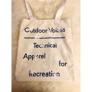 Outdoor Voices Limited Edition Snowflake Tote
